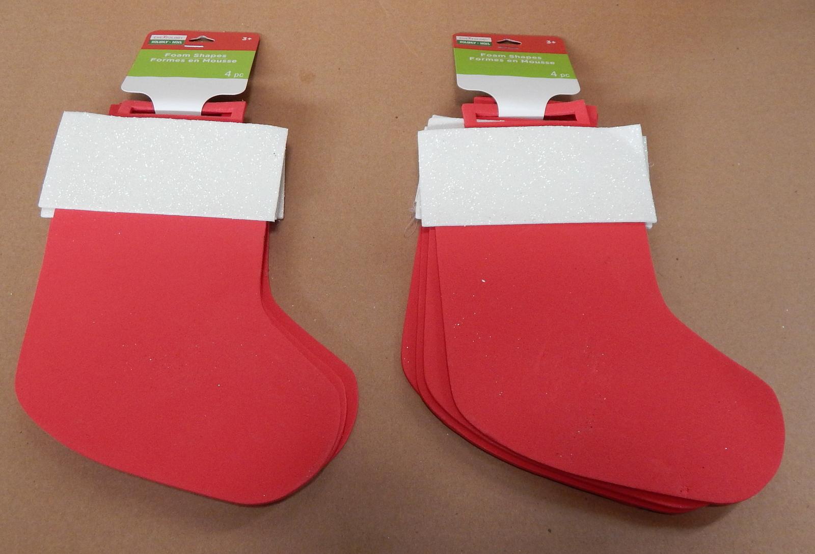foam shapes creatology holiday 8pc 8x 6 michaels 3 christmas stockings 54k - Michaels Christmas Stockings