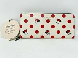 Disney Parks Minnie Mouse Polka Dot Zip Wallet Kate Spade New York Exclu... - $207.89