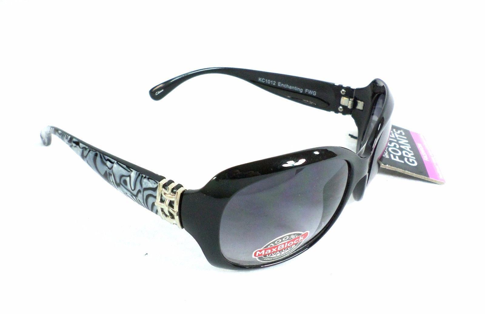 Foster Grant Womens Grey/Black Enchanting 100% UV Protection Sunglasses - $19.99