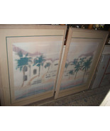 MEL STAUFFER SIGNED LIMITED EDITION MATCHED PAIR LITHOGRAPHS FRAMED - $559.00