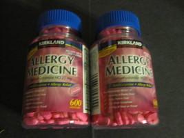 Diphenhydramine Kirkland 2-600 Tablets Bottles allergy medicine - $15.12