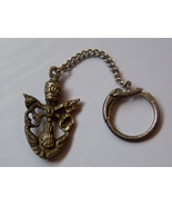 Vintage Papal Keychain. Stamped Italy Papal Keychain. - $15.00