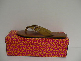 Women's Tory Burch Nora Flat Thong-Mestico Royal tan size 9.5 us - $138.54