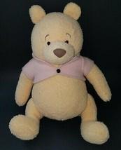 """Winnie Pooh 15"""" Disney Plush Pinkish Shirt Bear Stuffed Animal Jointed A... - $34.60"""