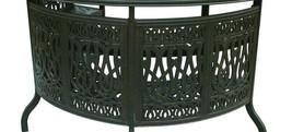 Outdoor bar table Elisabeth cast aluminum all weather patio furniture Bronze image 3