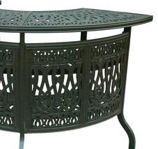 Outdoor bar table Elisabeth cast aluminum all weather patio furniture Bronze image 4