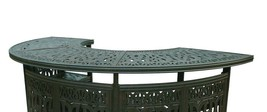 Outdoor bar table Elisabeth cast aluminum all weather patio furniture Bronze image 2