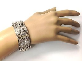 Vintage Sterling Silver 7 Link Siam Bracelet 925 Royal Elephant Dancers - $80.79