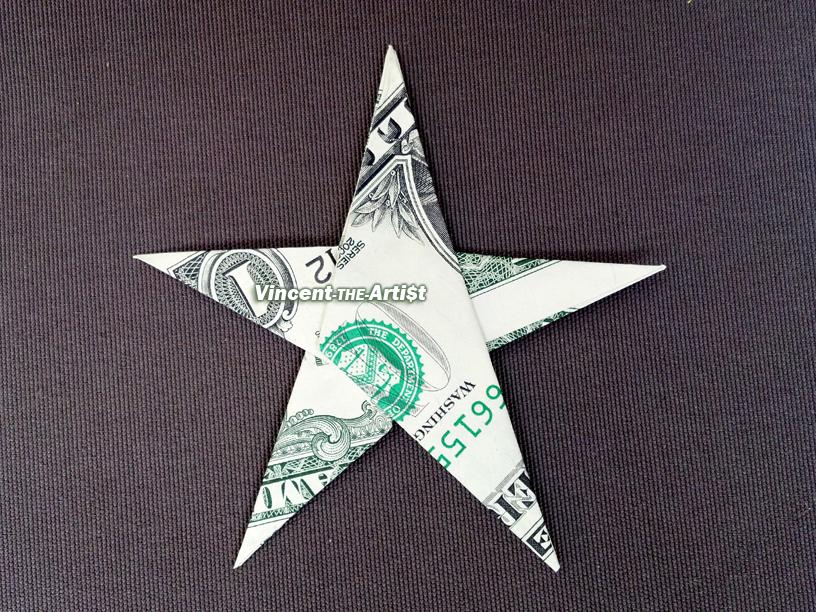 STAR Money Origami - Shape Dollar Bill Art - Real Cash ... - photo#18