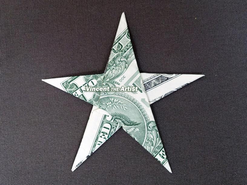STAR Money Origami - Shape Dollar Bill Art - Real Cash ... - photo#15