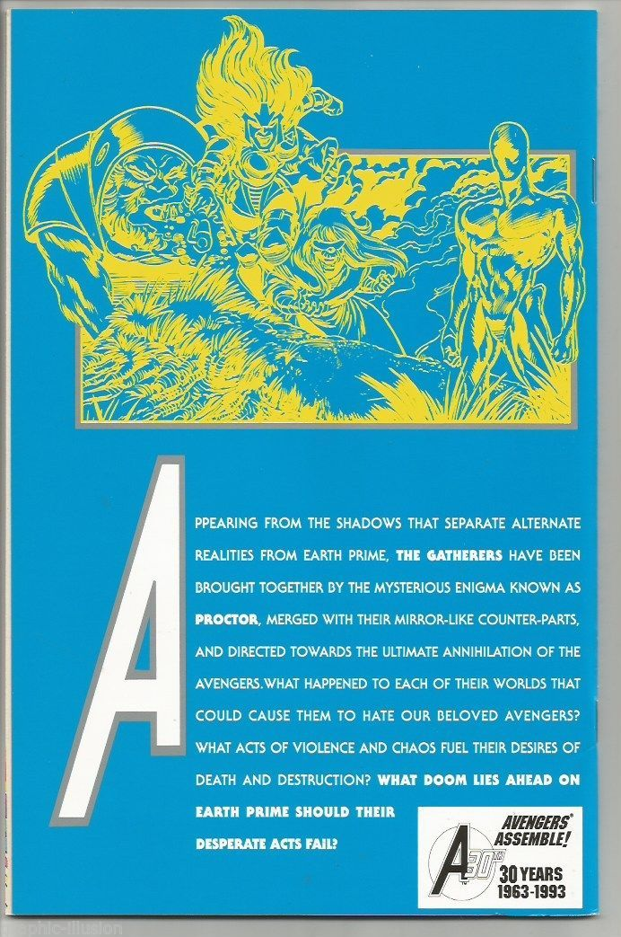 AVENGERS #363 Silver Embossed Cover MARVEL COMIC Dissension 30th Anniversary