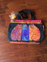 LAUREL BURCH TOTE BAG SUN & SAND CATS FELINE FRIENDS New LB774 - $28.04