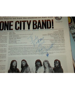 MEET THE STONE CITY BAND OUT FROM THE SHADOW LP RECORD SIGNED BY TOM MCD... - $25.57