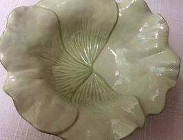 "Magenta Brand Flower Design Light Green Color Deep Bowl, 11-1/2"" Wide x 3-1/4"" D - $19.50"