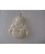 14k Yellow Gold Loop Mother Of Pearl Buddha Pendant - $35.00