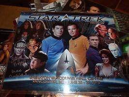 Star Trek 2010 Convention Hand Signed 5 X 11 X14 Photo Biggs Combs Shimerman - $158.85