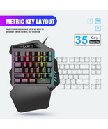 LED One Hand Game 35 Keys Keyboard+USB Wired Mouse for PC/Xbox One/PS4 P... - $47.37