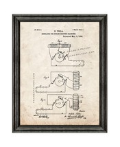 Tesla Regulator for Dynamo-Electric Machines Patent Print Old Look with ... - $24.95+