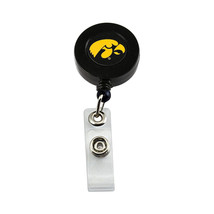 NCAA Iowa Hawkeyes Retractable Badge Reel Id Ticket Clip - $10.15