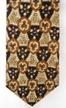 Italian Silk Necktie Serica Kaleidoscope browns - $9.99