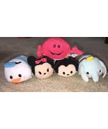 5 Piece Disney Tsum Tsum Mickey Minnie Donald Dumbo Sebastian plush toy ... - $18.80