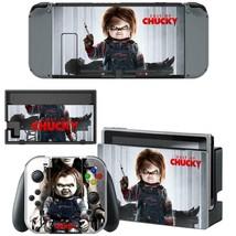 Curse of Chucky Horror Nintendo Switch Joy-Con Dock Console Vinyl Skin Decals - $9.41