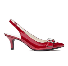 NEW ANNE KLEIN  RED PATENT LEATHER POINTY SLINGBACK PUMPS SIZE 7.5 M - $39.99