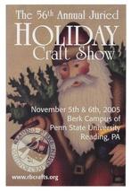 Reading PA 56th Annual Holiday Craft Show Modern Advertising Postcard Sa... - $5.69