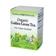Traditional Medicinals Organic Golden Green Tea - 16 Tea Bags - Case Of 6 - $32.62