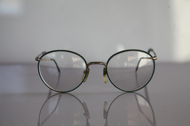 Vintage L'AMY Eyewear, Gold, Green Frame,  RX-Able Crystal Prescription ... - $29.70