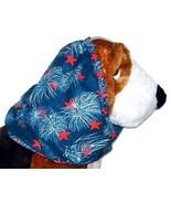 Dog Snood-Patriotic Fireworks Sparkle Cotton-Cavalier Puppy SHORT CLEARANCE - $4.75