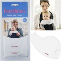 Baby Bjorn BIB for Baby Carrier 2 Pack Snow White Baby Carrier Protector... - $12.86