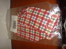 Longaberger Liner Cherry Red Plaid Seashell Liner - $14.79