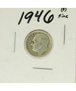 1946 United States Roosevelt Dime 90% Silver Rating:(F) Fine - £0.94 GBP