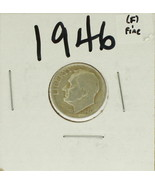 1946 United States Roosevelt Dime 90% Silver Rating:(F) Fine - £0.89 GBP