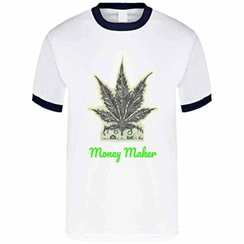 Tremendous Designs Money Maker 420 Canna T Shirt M Navy Ringer