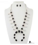 Navajo Sterling Silver BLACK ONYX Squash Blosso... - $1,329.00