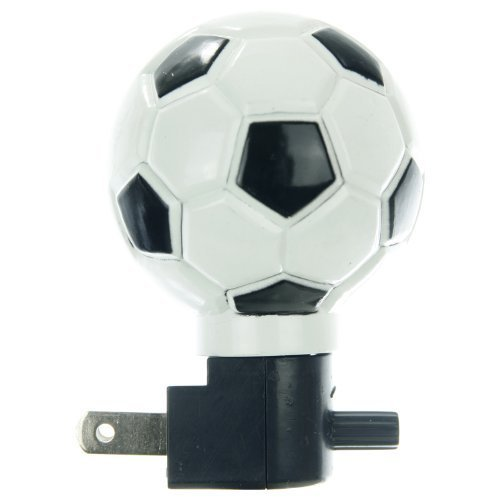 Sunlite 04043-SU E167 Soccerball Decorative Night Light, White