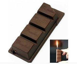 New Novelty Funny Creative Chocolate Candy Cigarette Lighter (Bar Shaped)