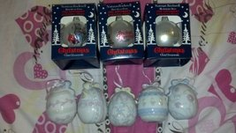 3 CHRISTMAS GLASS OMAMENTS + 5 CUTE EGGS DECORATION COLECTIBLE [Kitchen]