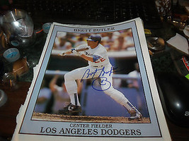 BRETT BUTLER HAND SIGNED DODGERS BASEBALL 8.5X11 PHOTO - $9.50