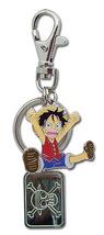 One Piece Chibi Luffy Metal Key Chain GE36622 *NEW* - $9.99