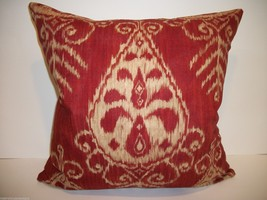 Ruby Ikat Accent Pillow - $95.00