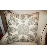 High End Moroccan Paisley Linen Accent Pillow - $165.00