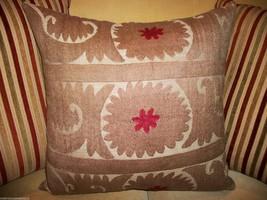 Vintage Suzani Accent Pillow Circa 1945 - $170.00
