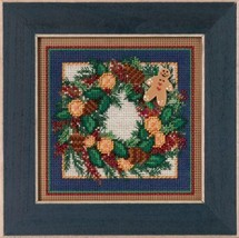 Spiced Wreath Winter Mill Hill 2015 Button and Bead kit Mill Hill  - $12.60
