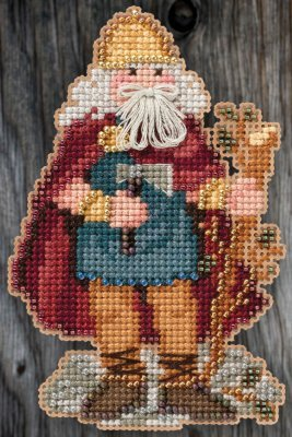 Primary image for Celtic Wales Santa 2015 Santa Ornament Kit cross stitch Mill Hill