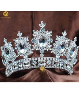 Large Queen Women Pageant Crown for Wedding Tiaras and Crowns Big Crysta... - $100.91