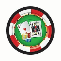 "Casino Plates 7""  (8 pcs), Party Tableware, - $2.44"