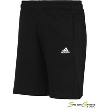 Adidas ESS Short S17627 New Men Sport Casual Wear Black 70%/Cotton 30%/P... - $27.85